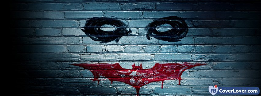 joker wall paint with batman logo comics facebook cover maker