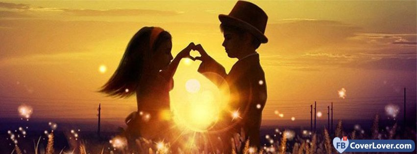 Kids Couple Love And Relationship Facebook Cover Maker