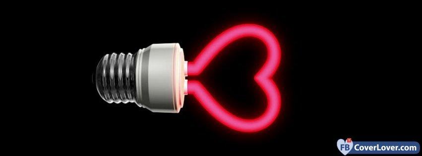 Light Bulb Shape Heart