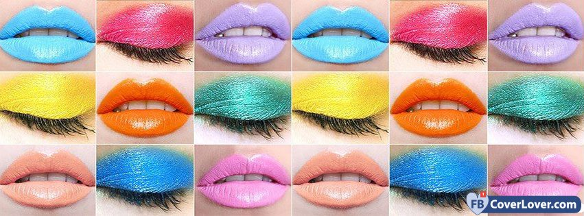 Colorful Lips And Eyelids