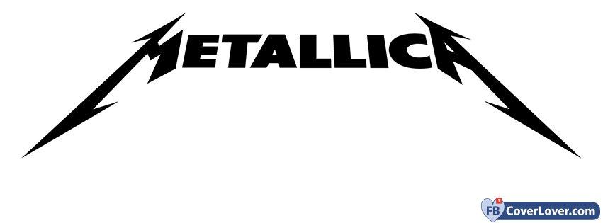 Metallica Black And White Logo Music Facebook Cover Maker