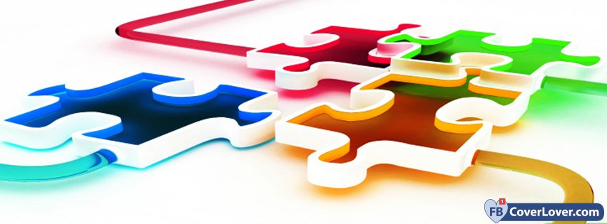 Mixed Colored Puzzle Pieces