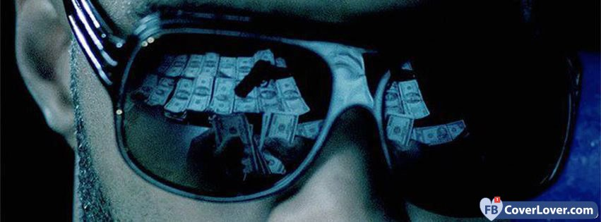 Cool Facebook Cover Photos : Money reflection funny and cool facebook cover maker