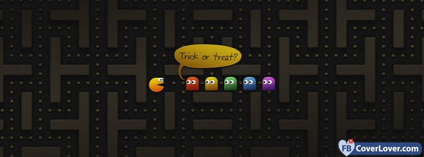 Pacman Halloween Gaming Video Games Facebook Cover Maker Fbcoverlover Com