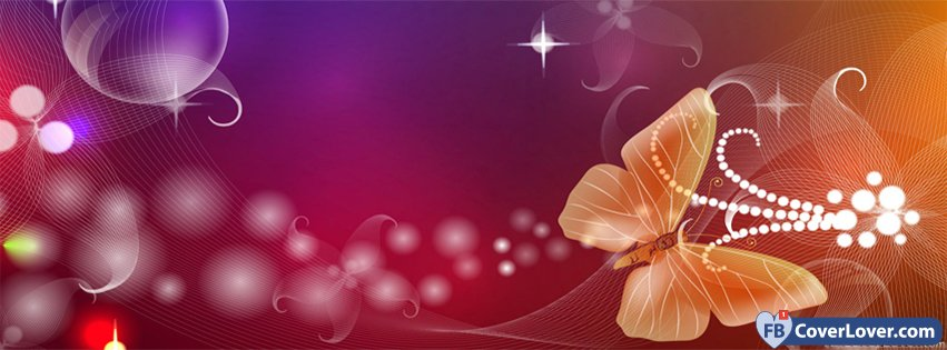 Pink Butterfly Orange Art Creative