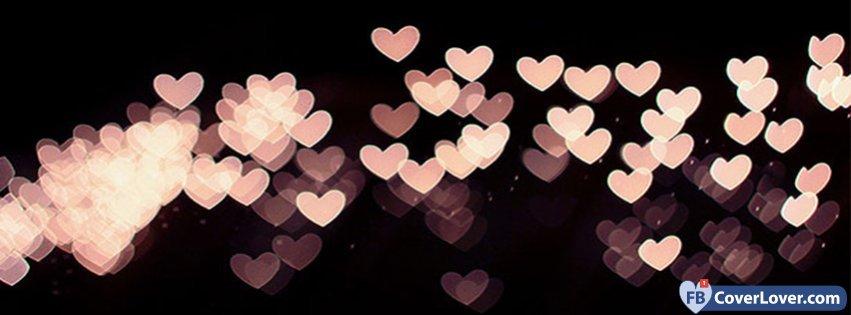 beige hearts lights facebook cover maker fbcoverlover com