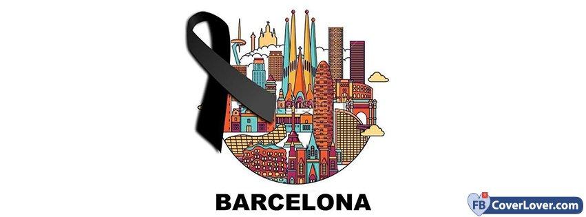 Pray For Barcelona Black Ribbon