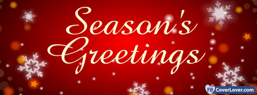 Red Seasons Greetings