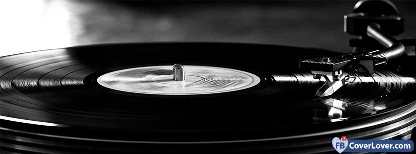Retro Black And White Turntable