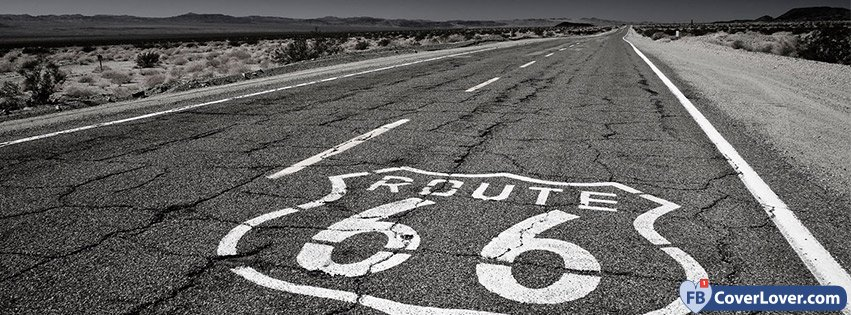 Route 66 black and white