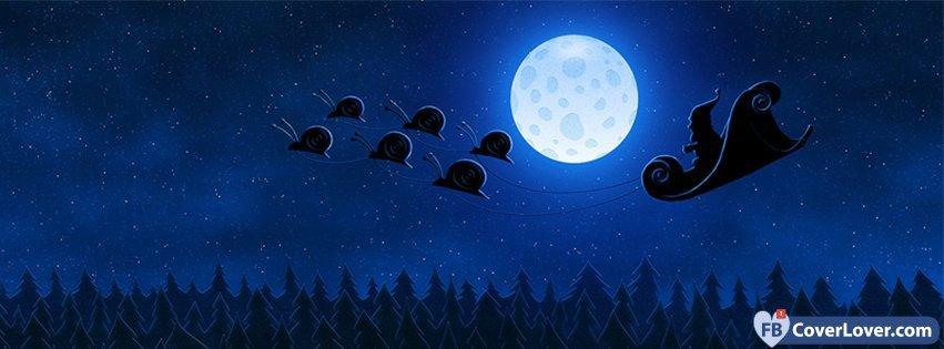 Santa Sleigh Snails Holidays