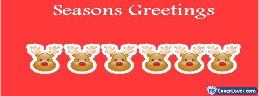 Seasons greetings deers holidays and celebrations facebook cover seasons greetings deers facebook covers m4hsunfo