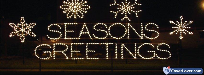 Seasons greetings lights holidays and celebrations facebook cover seasons greetings lights m4hsunfo