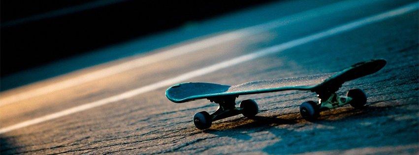 Skateboard Under Blue Light