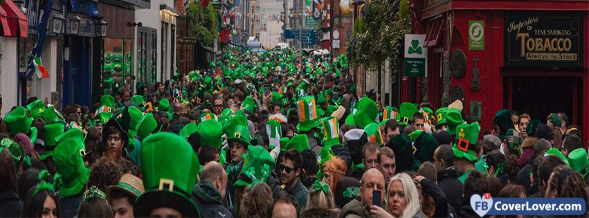 St Patricks Day Crowd