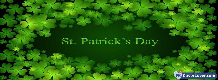 St Patricks Day Clovers Background