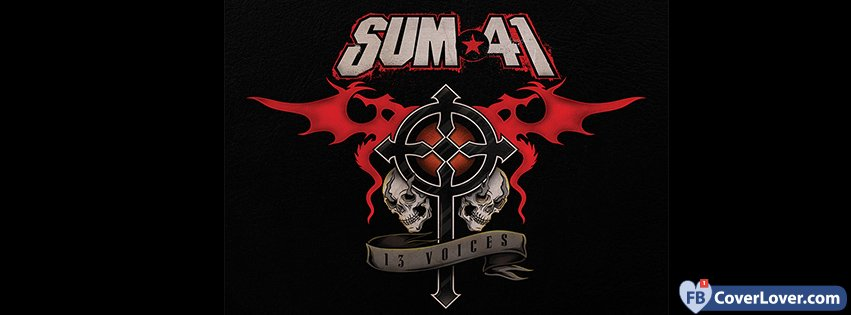 Sum41 13 Voices Album Cover