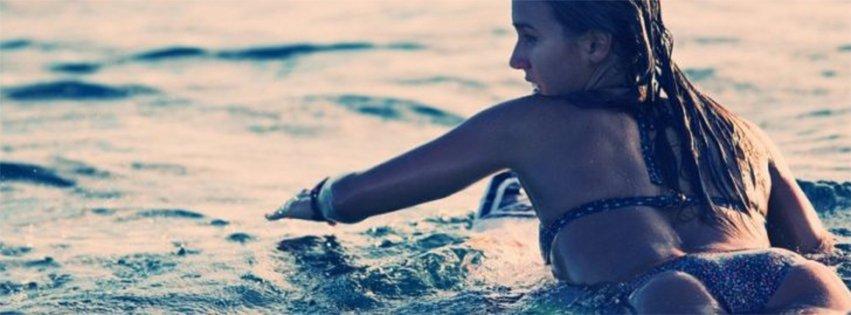 Surfing Girls Paddling