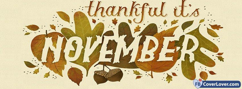 Thankful It Is November