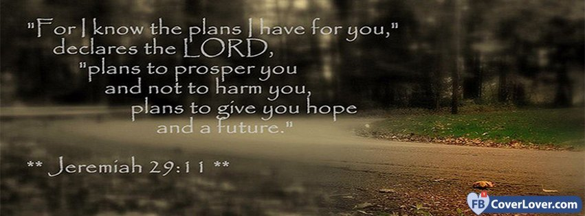 The Plans I Have For You Jeremiah 29 11