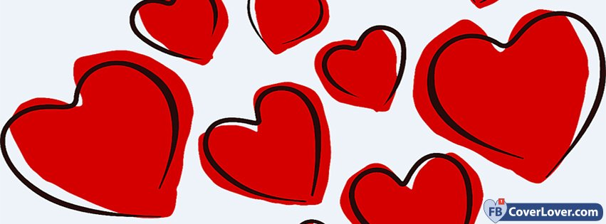 Valentine Day Red Hearts
