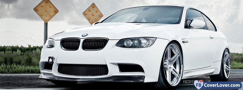 White Bmw 335i Cars Facebook Cover Maker Fbcoverlover Com