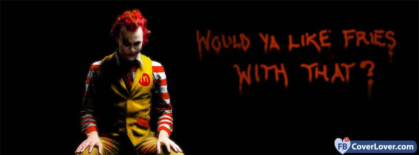 Would You Like Fries With That Batman Joker comics Facebook