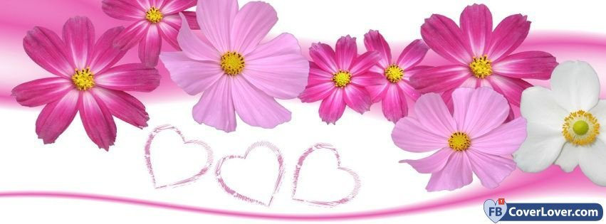 Cute pink flowers cute facebook cover maker fbcoverlover cute pink flowers mightylinksfo