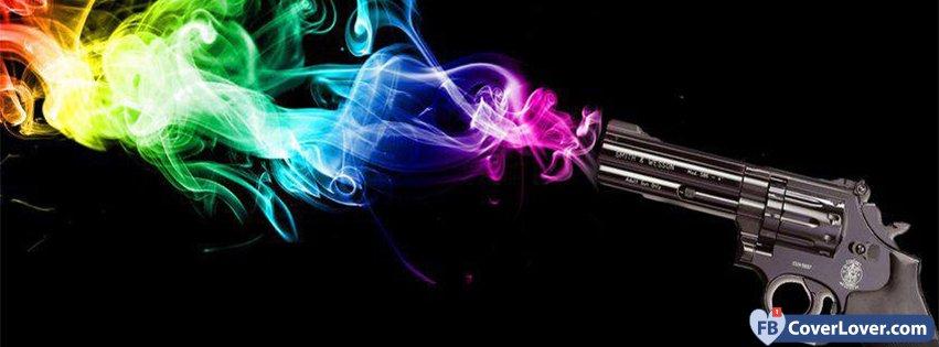 Gunshot Colorful Smoke