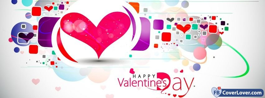 Happy Valentines Hearts Colors