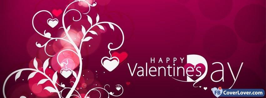 Happy Valentines Day Hearts Tree