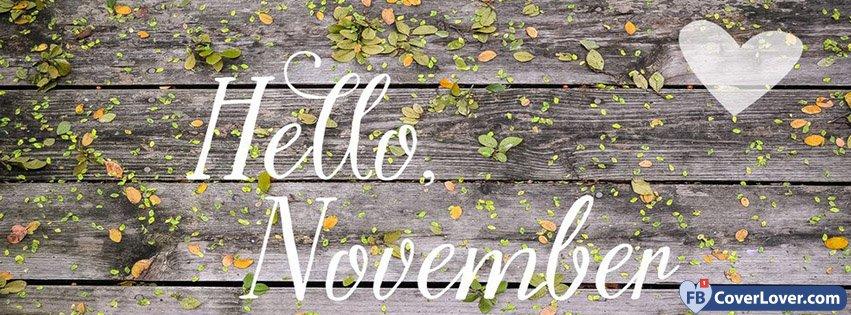 Hello November Wooden Wall