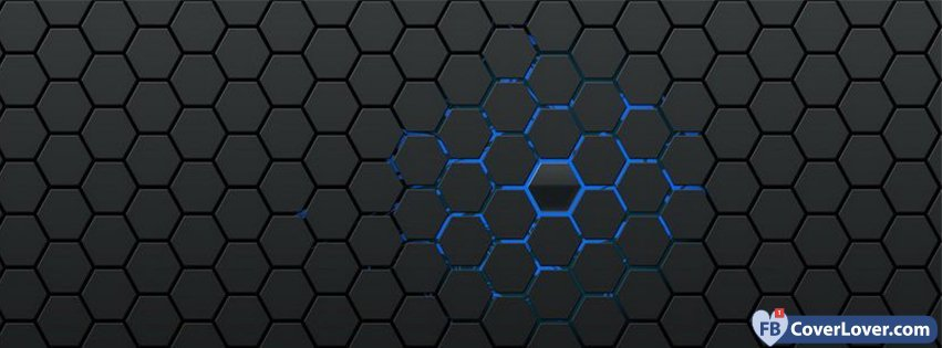 Blue Hexagons Background Patterns Facebook Cover Maker