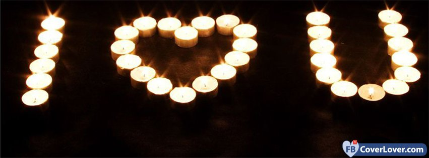 I Love You Candles Light