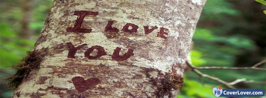 I Love You Carved On A Tree