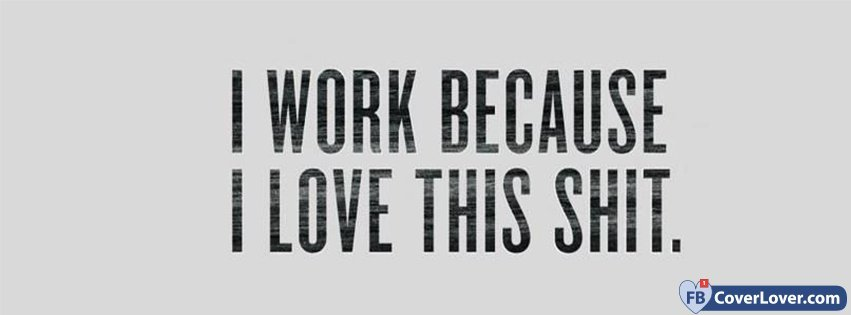 I Work Because I Love This Shit