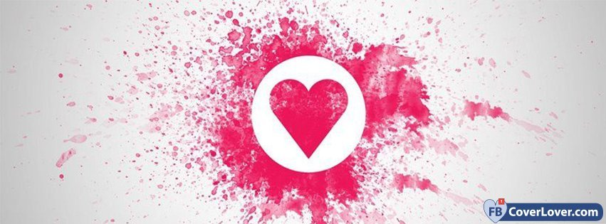 Love Heart Splash Hearts Facebook Cover Maker Fbcoverlover