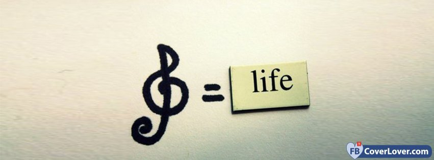 Music Equals Life Life Facebook Cover Maker Fbcoverlover