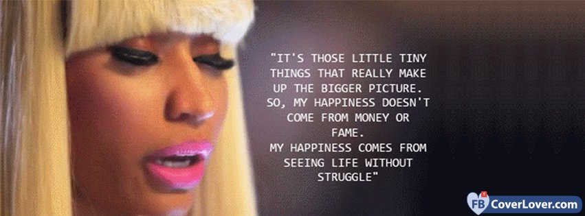 Nicki Minaj Happiness Quote Music Facebook Cover Maker