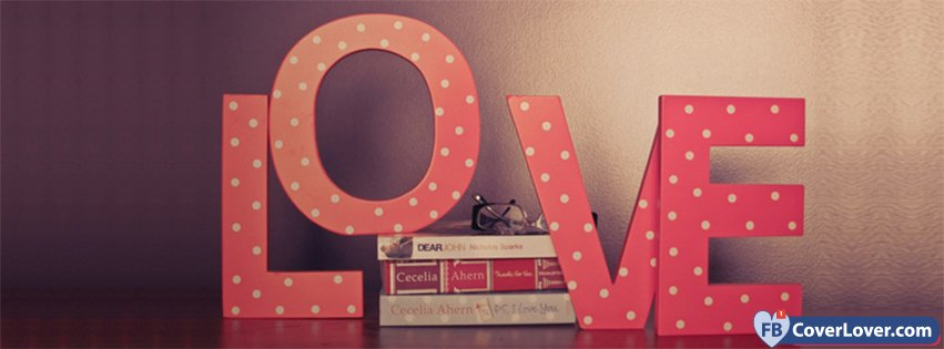Pink Love Letters And Books