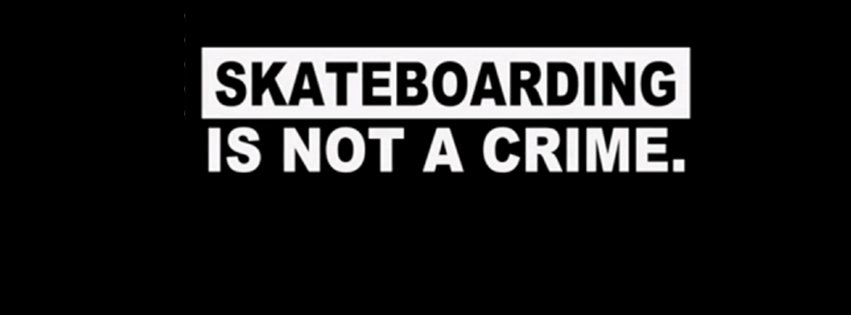 Skateboarding Is Not A Crime Black Background