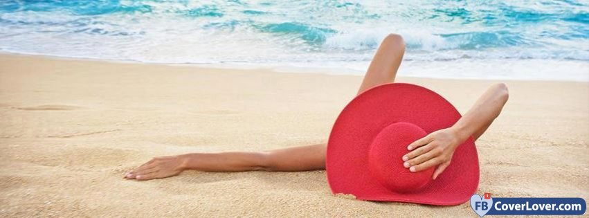 Summer Time Girl Red Hat