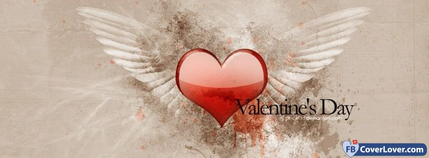 Valentine Heart Angel Wings