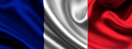 French Flag Floating Facebook Covers