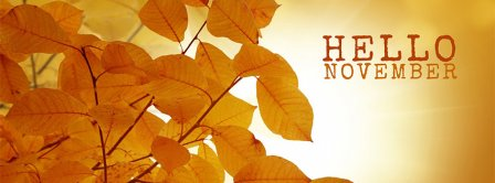 Hello November  Facebook Covers