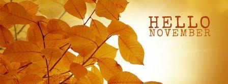 Hello November  Facebook Covers