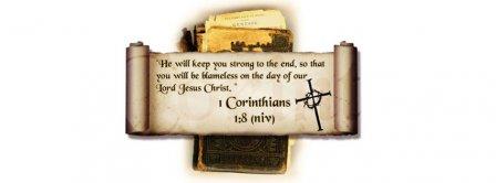 1 Corinthians 1 8  Facebook Covers