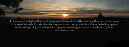 Obedient To God 2 Corinthians 10 4  Facebook Covers