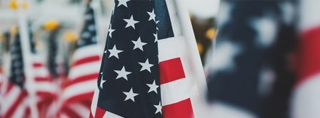 4th Of July US Flags Facebook Covers