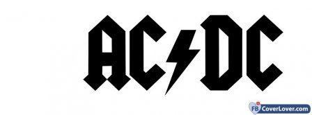 AC DC White Background Logo Facebook Covers